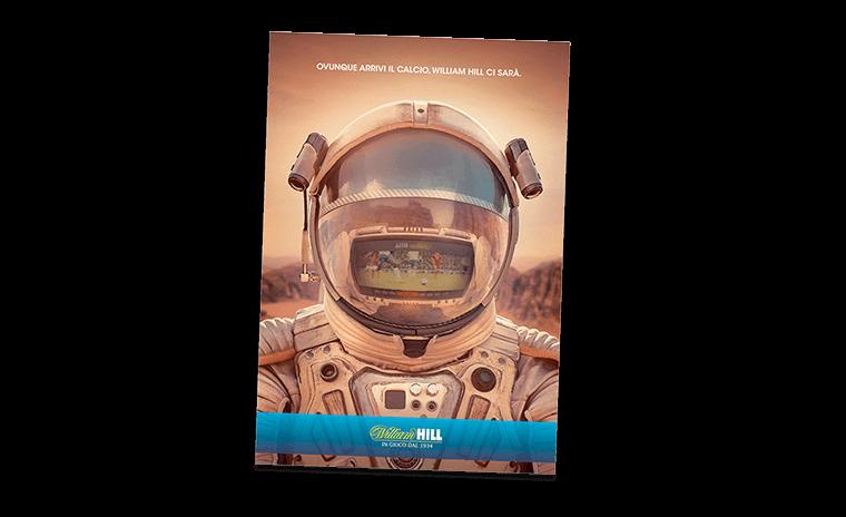 William Hill Astronaut Print Advert